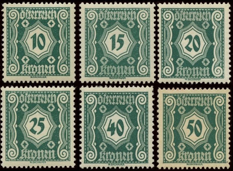 Die Portomarken der ERSTEN REPUBLIK Gesamt16