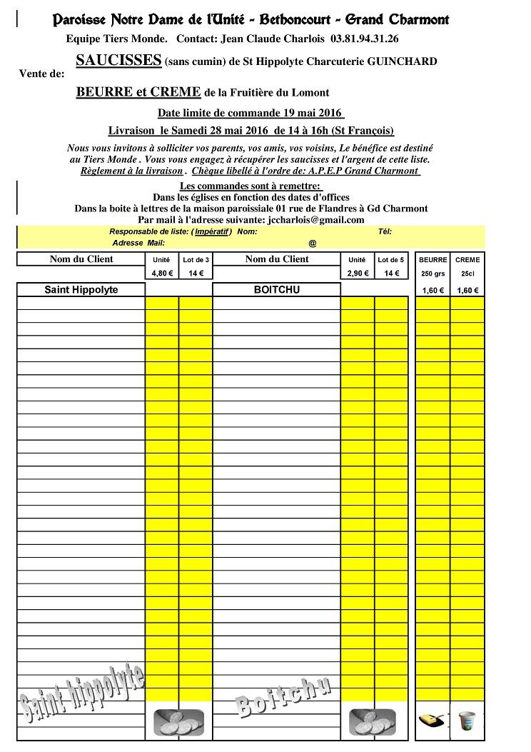 Trait d'Union du 24 avril 201- + commande saucisses + annonce Gospel Comman10