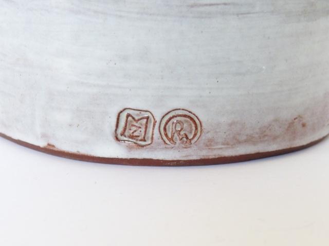 Figural candle holder - Marazion Pottery? - RW mark MZ mark  P2420310