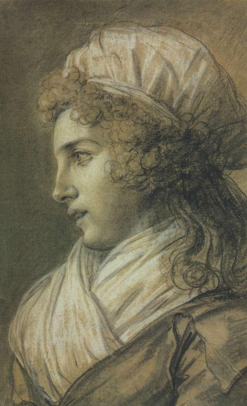 Le profil de la duchesse de Polignac par Elisabeth Vigée-Lebrun Zmac15
