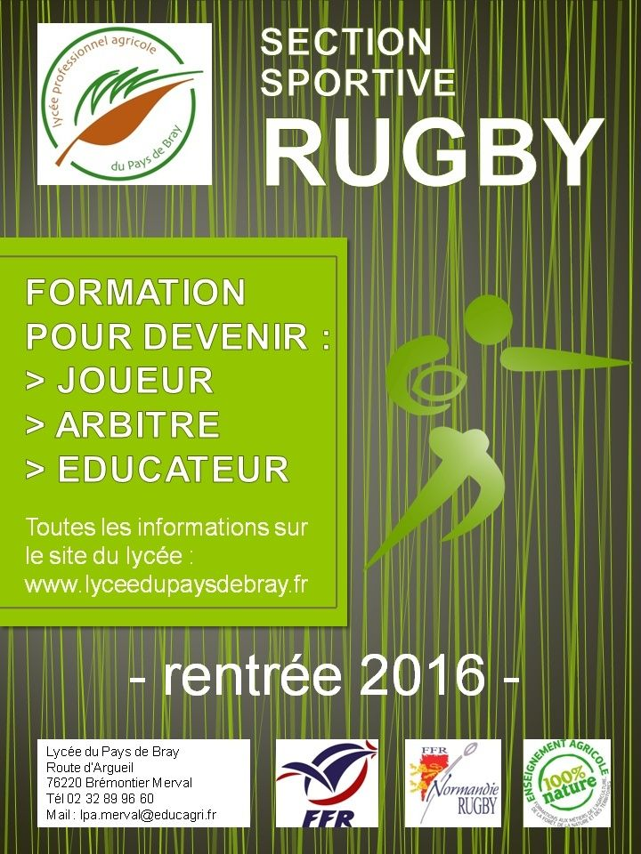 Section sportive rugby  - recrutement rentrée 2016 Flyers10