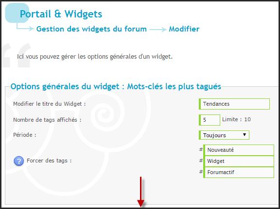 Nouveautés: Widgets utilisateurs les plus tagués et mots clés les plus tagués 411