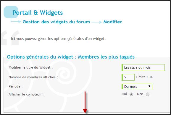 Nouveautés: Widgets utilisateurs les plus tagués et mots clés les plus tagués Motcly22