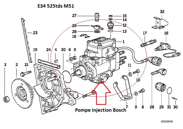 [ BMW E34 525tds M51 an 1995 ] Joint torique pompe à injection 13_pi_10