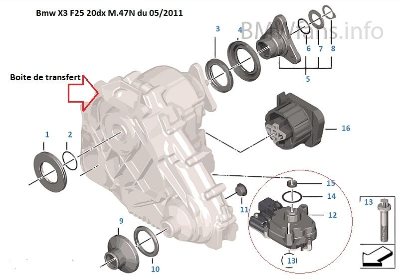 [ Bmw F25 X3 2.0dX N47N an 2011 ] problème boite de transfert 27_boi10