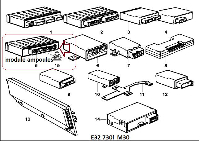 [ BMW e32 730i M30 an 1994 ] Problème ordinateur de bord - défaut ampoule (résolu) 61_mod10