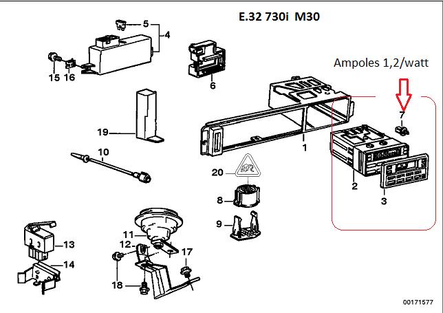 [ BMW e32 730i M30 an 1994 ] Problème ordinateur de bord - défaut ampoule (résolu) 65_e3210