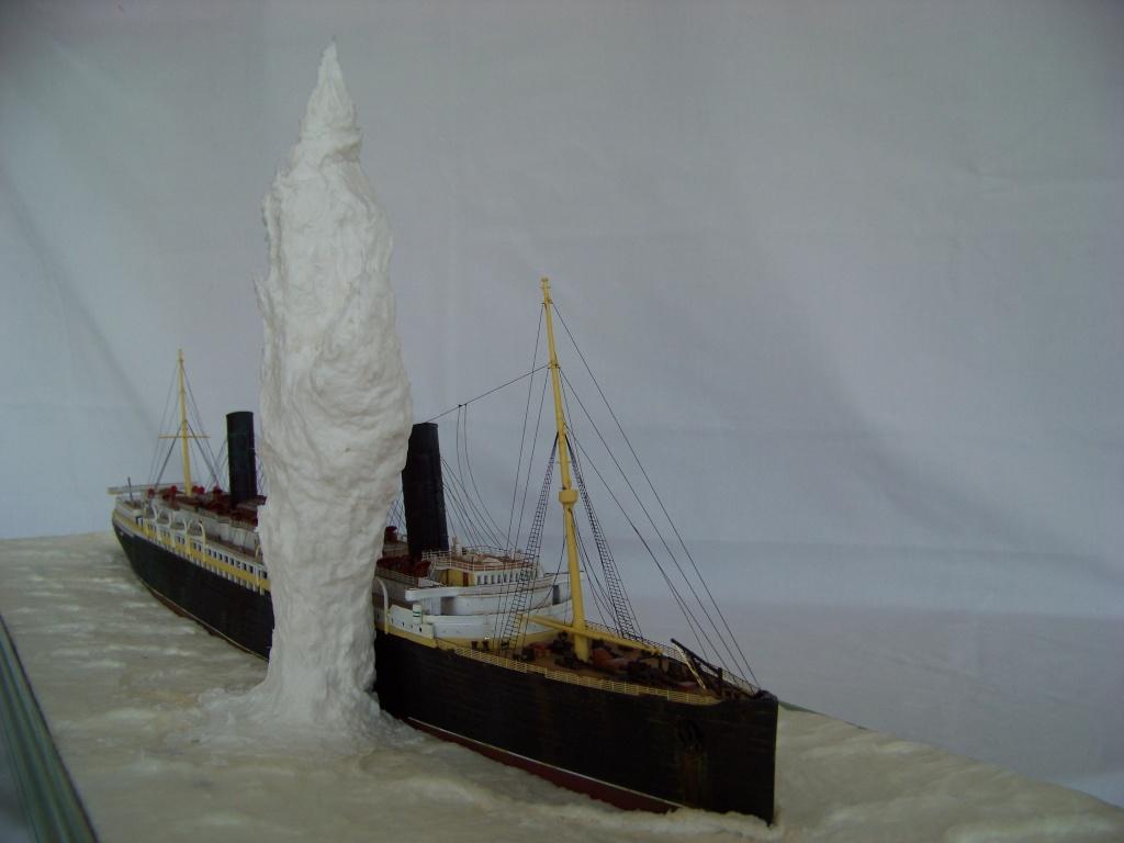 Diorama du torpillage du RMS Lusitania 1/350 Gunze Sangyo - Page 2 100_9318