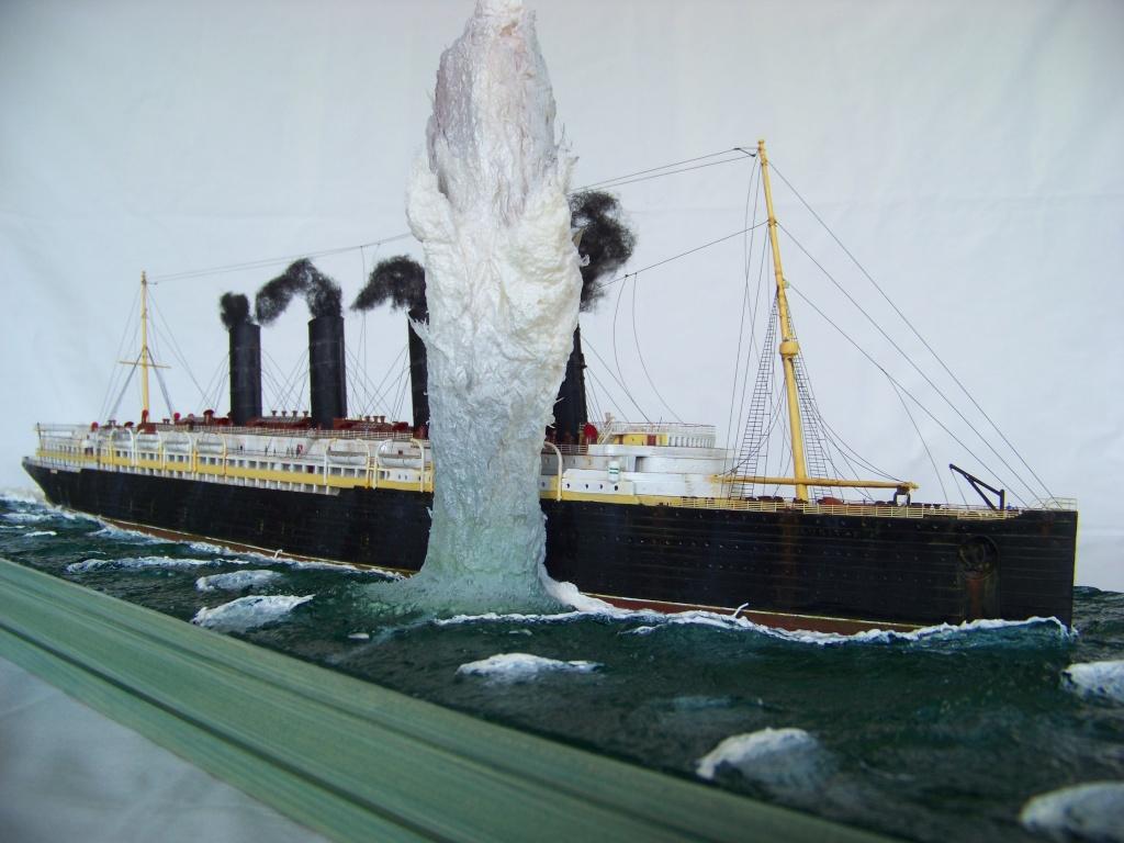 Diorama du torpillage du RMS Lusitania 1/350 Gunze Sangyo - Page 4 100_9328