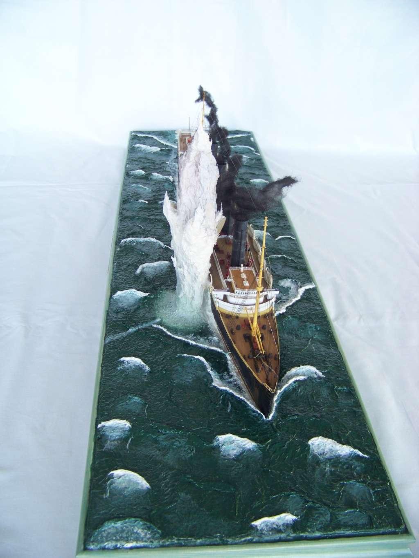 Diorama du torpillage du RMS Lusitania 1/350 Gunze Sangyo - Page 4 100_9330