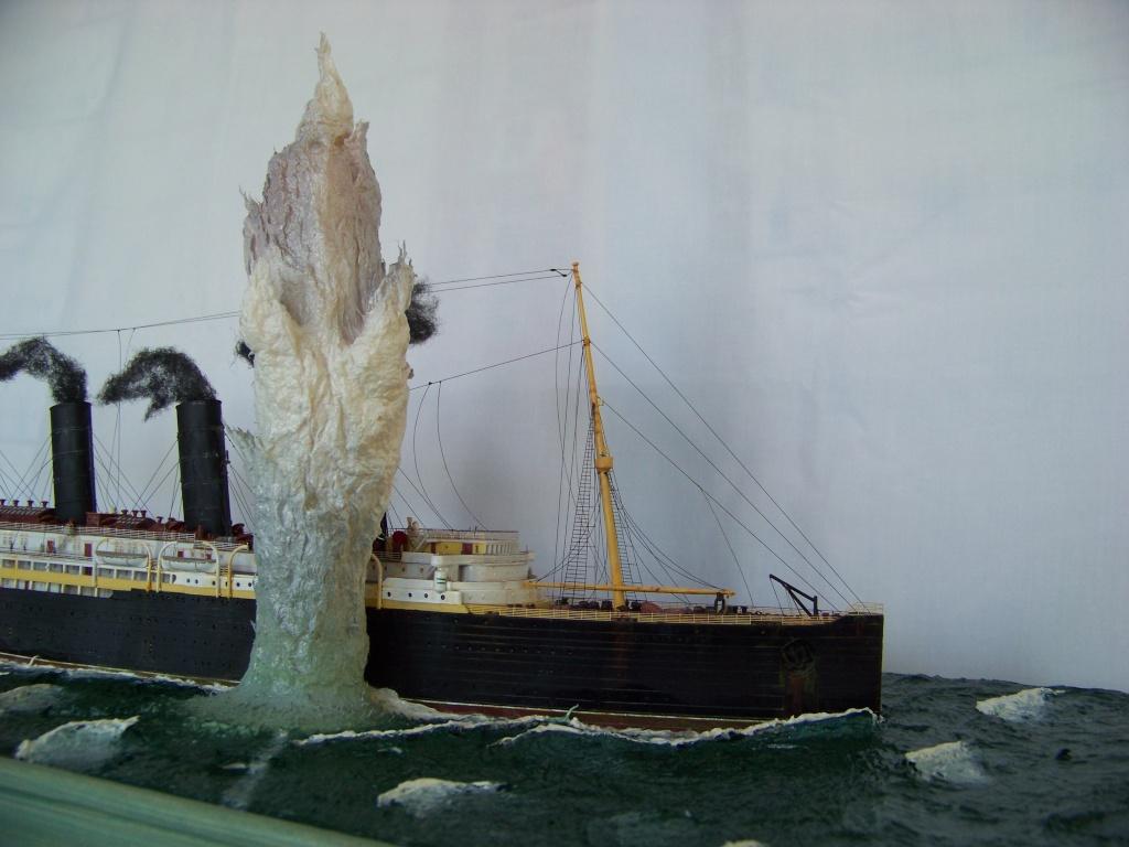 Diorama du torpillage du RMS Lusitania 1/350 Gunze Sangyo - Page 4 100_9332