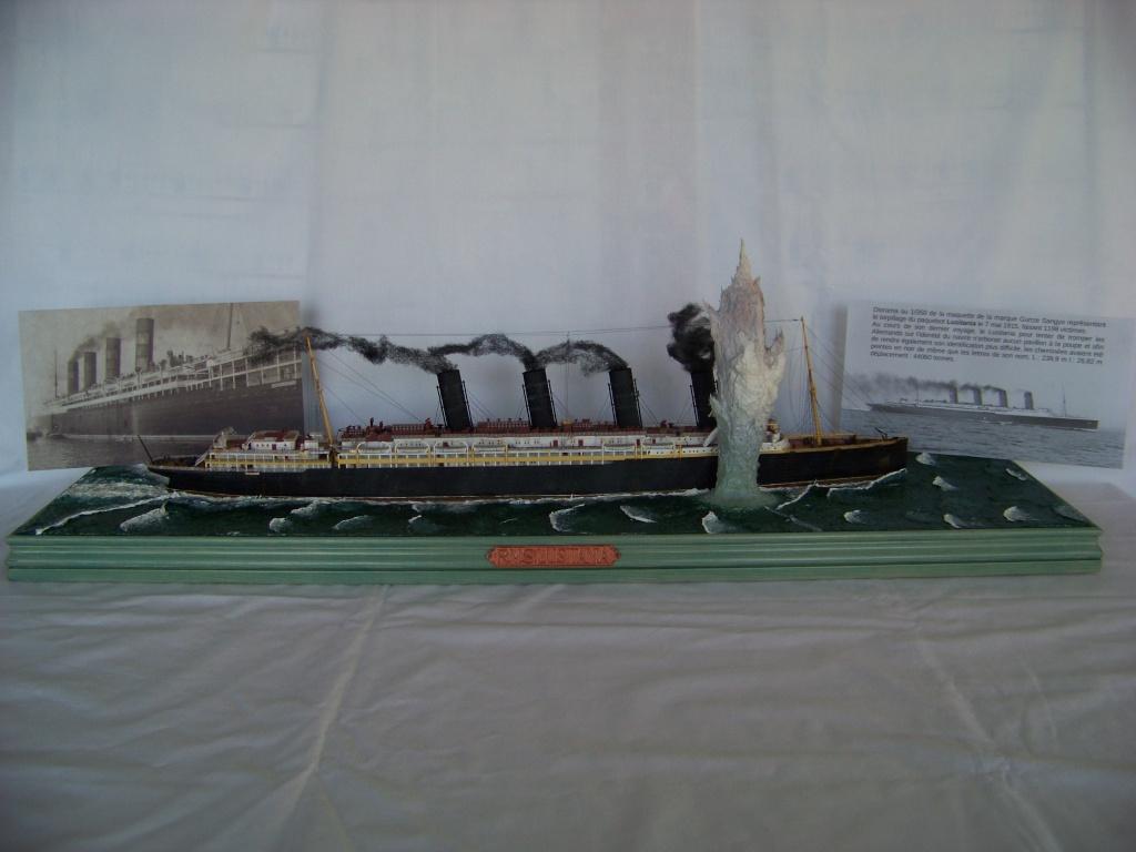 Diorama du torpillage du RMS Lusitania 1/350 Gunze Sangyo - Page 4 100_9340