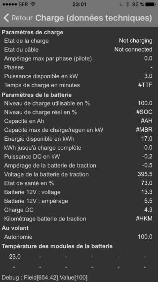 Expérience de vidage de batterie ayant un SOH de 73% Image13