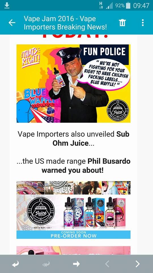 Le coup de gueule de P. Busardo suite au VAPE JAM UK - Page 3 12933010