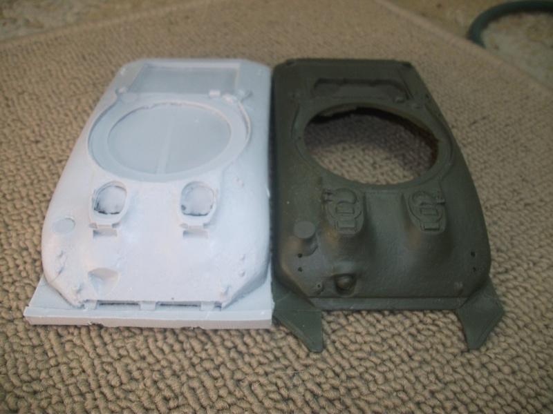 transformation caisse Sherman italeri 1/35 suite et comparaison 02210