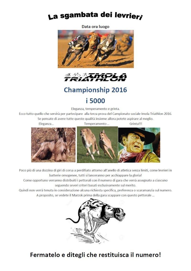 Campionato sociale 2016 - 3° Prova - Mercoledì 27/04/2016 - La sgambata dei levrieri (5000m Corsa) Sgamba10