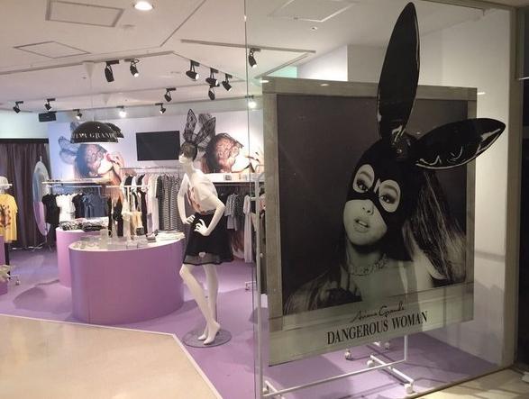 Nueva tienda de Ariana Grande para promover DW abre sus puertas en Japón. Aurora14