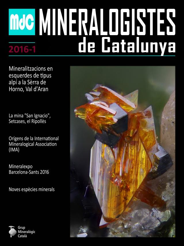 NOVA revista Mineralogistes de Catalunya 2016-1 i Paragénesis 2016-1 Portad10