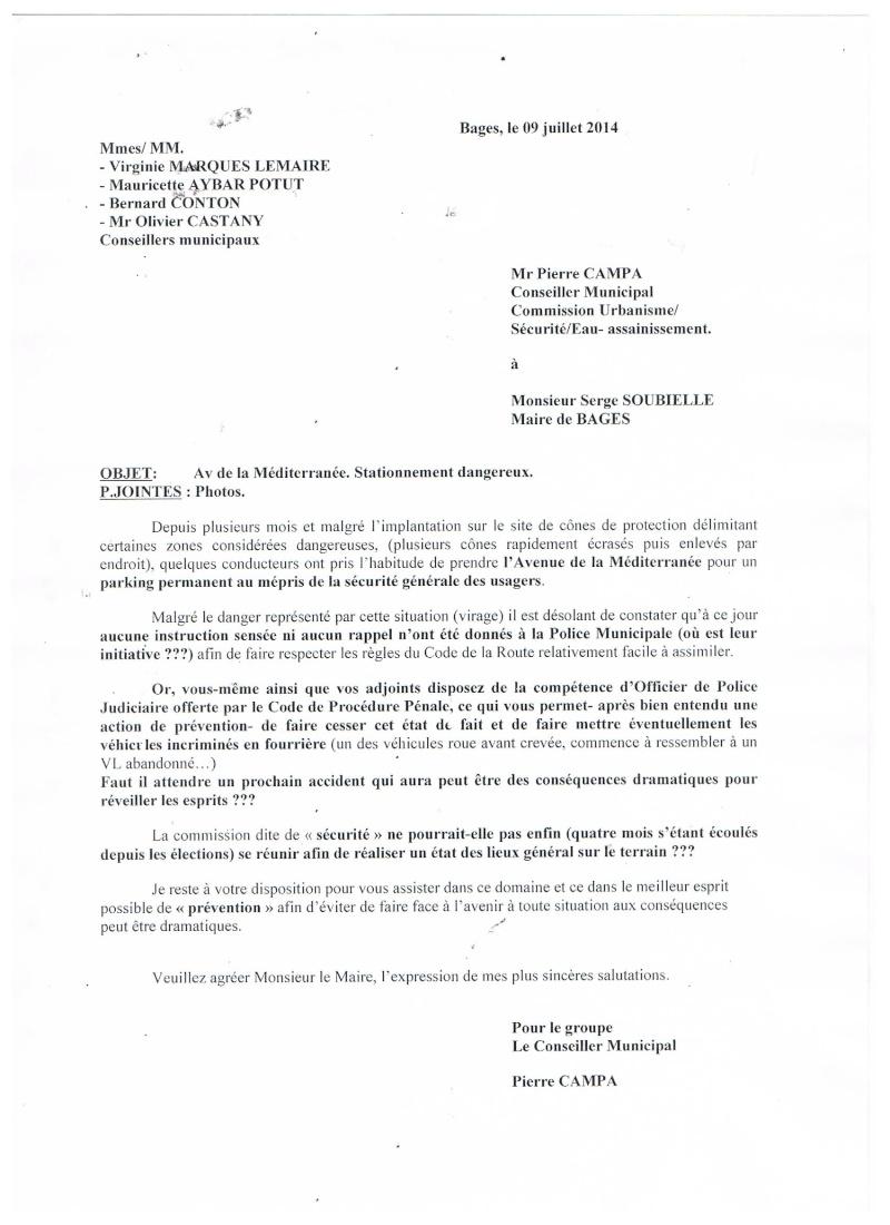 A QUAND UNE POLICE MUNICIPALE DIGNE DE CE NOM Courri10