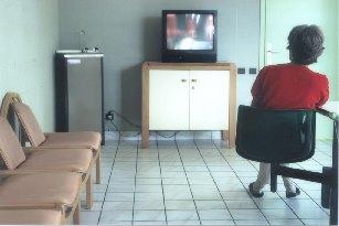 salle TV hôpital psychiatrique Le Vinatier