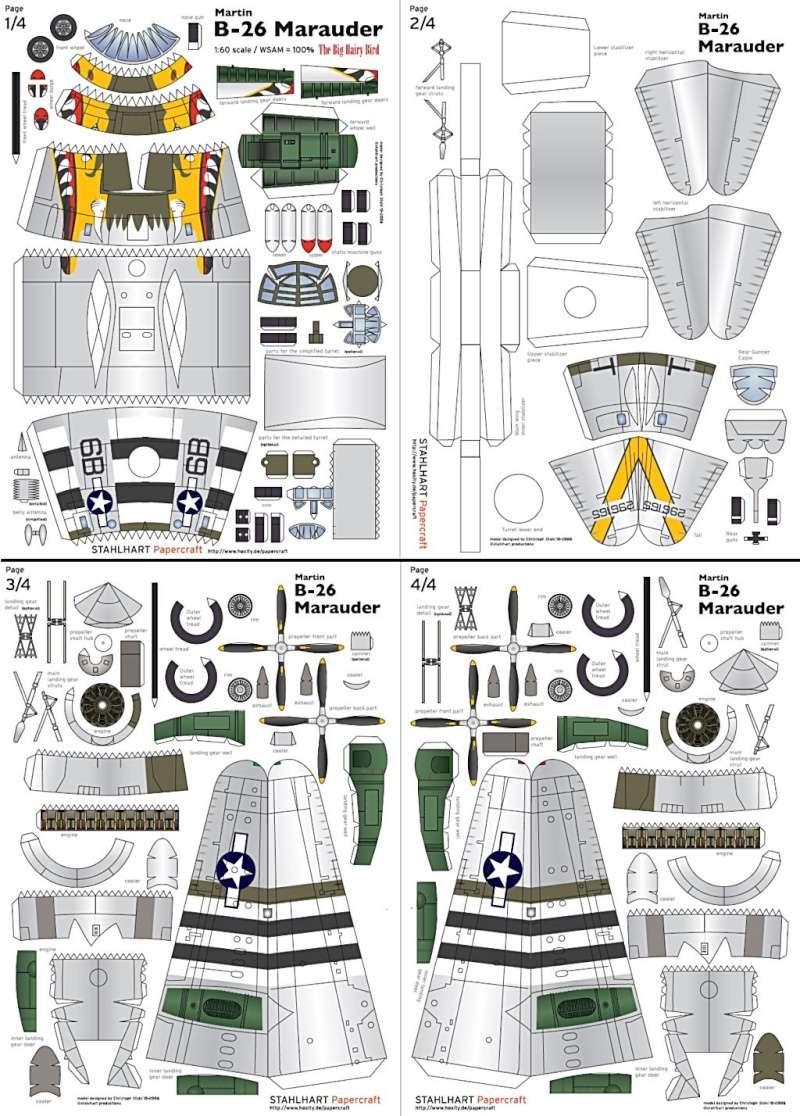 [PaperCraft] mes avions en carton échelle 1/60 Paperc10