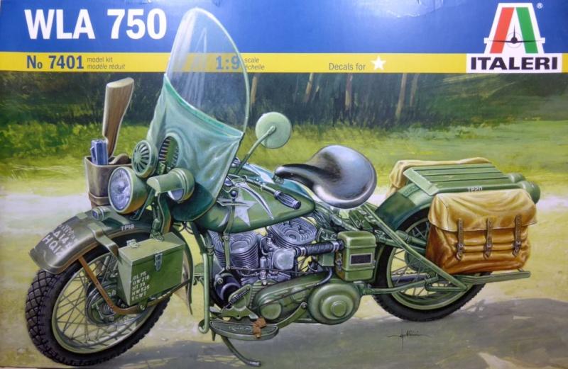 wla 750 1/9 italeri Harley Davidson   Wla75010