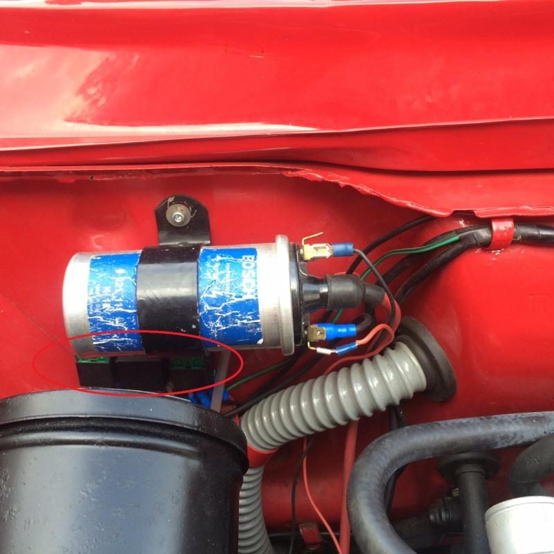 Installation pompe électrique avec relais. Relais11
