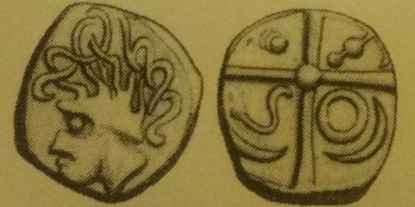 Pour les Nitiobroges ? Non, drachme des tolosates à la tête négroïde au S ... Picsar17