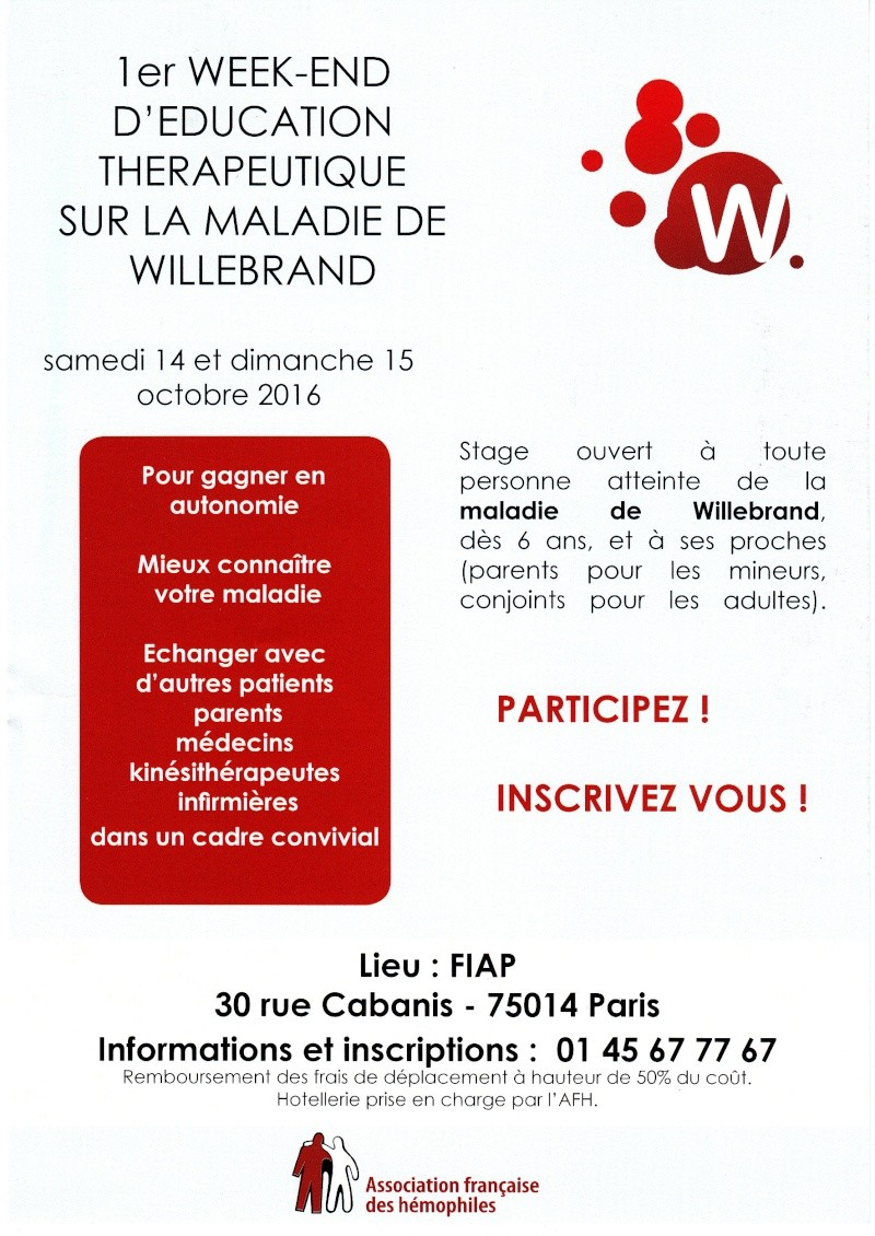 1er Week-end d'éducation thérapeutque sur la maladie de Willebrand 1er_we10