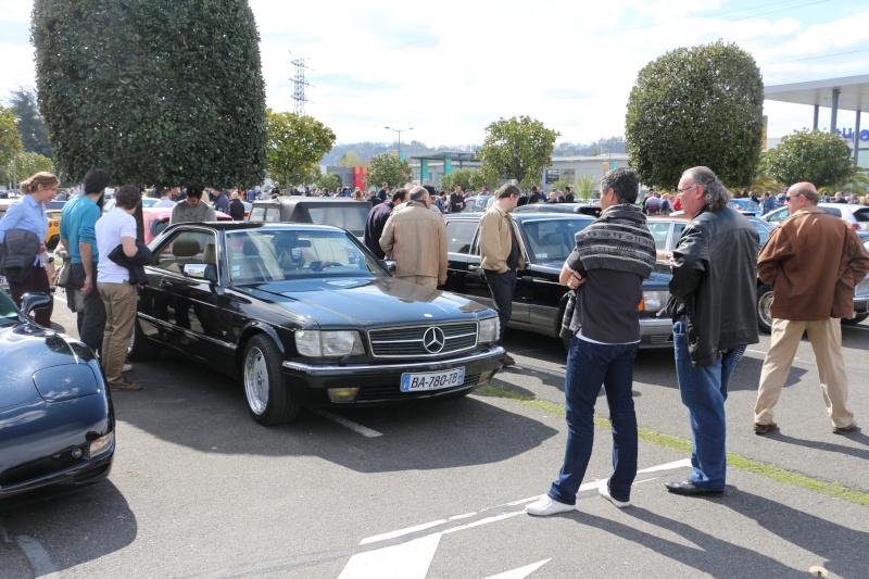 W126 présentes au rassemblement informel du premier dimanche de chaque mois à Pau-Lescar 2016-030