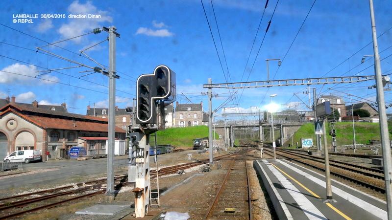 """""""tro breiz ferroviaire """" Rennes/St Brieuc/Dol/Rennes (3- De  Lamballe à Dinan) 20160287"""