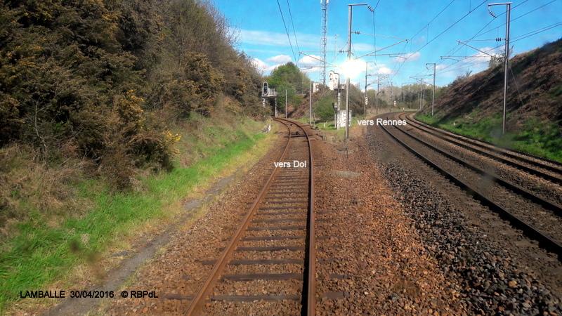 """""""tro breiz ferroviaire """" Rennes/St Brieuc/Dol/Rennes (3- De  Lamballe à Dinan) 20160289"""
