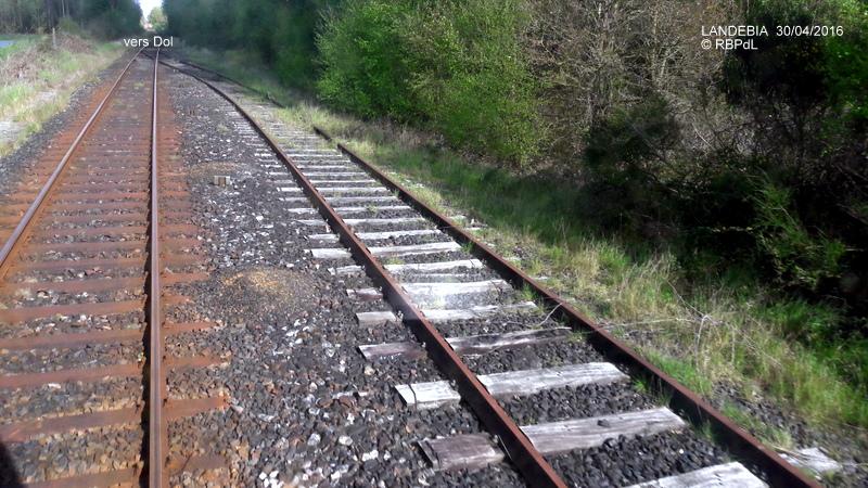 """""""tro breiz ferroviaire """" Rennes/St Brieuc/Dol/Rennes (3- De  Lamballe à Dinan) 20160292"""