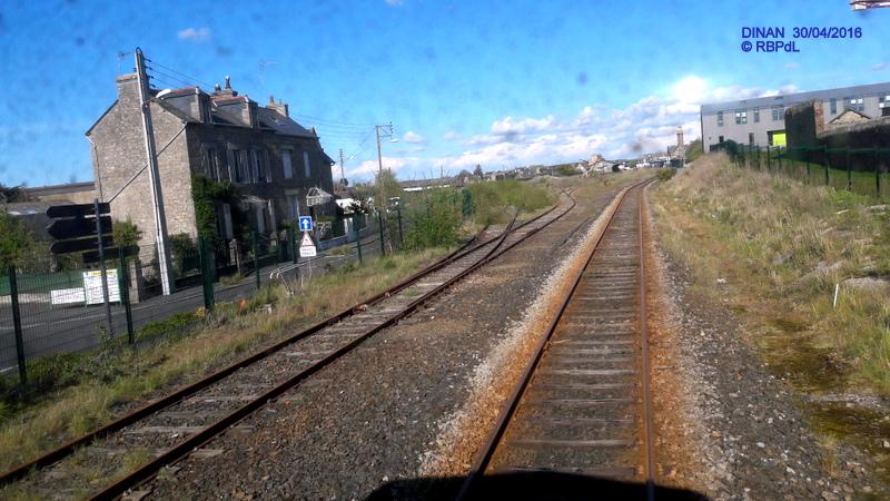 """""""tro breiz ferroviaire """" Rennes/St Brieuc/Dol/Rennes (3- De  Lamballe à Dinan) 20160309"""