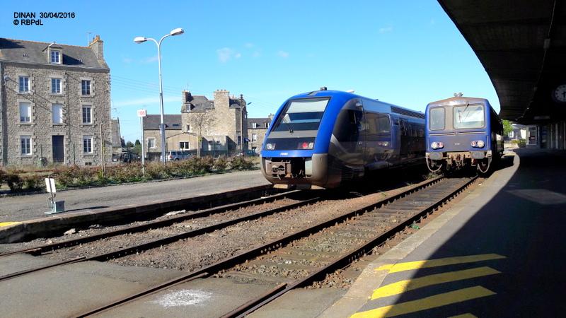 """""""tro breiz ferroviaire """" Rennes/St Brieuc/Lamballe/Dol/Rennes (4- Dinan) 20160323"""