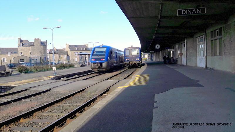 """""""tro breiz ferroviaire """" Rennes/St Brieuc/Lamballe/Dol/Rennes (4- Dinan) 20160324"""