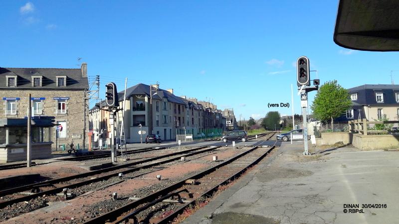"""""""tro breiz ferroviaire """" Rennes/St Brieuc/Lamballe/Dol/Rennes (4- Dinan) 20160332"""