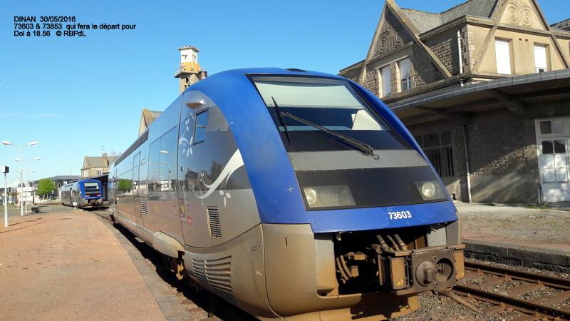 """""""tro breiz ferroviaire """" Rennes/St Brieuc/Lamballe/Dol/Rennes (4- Dinan) 20160336"""