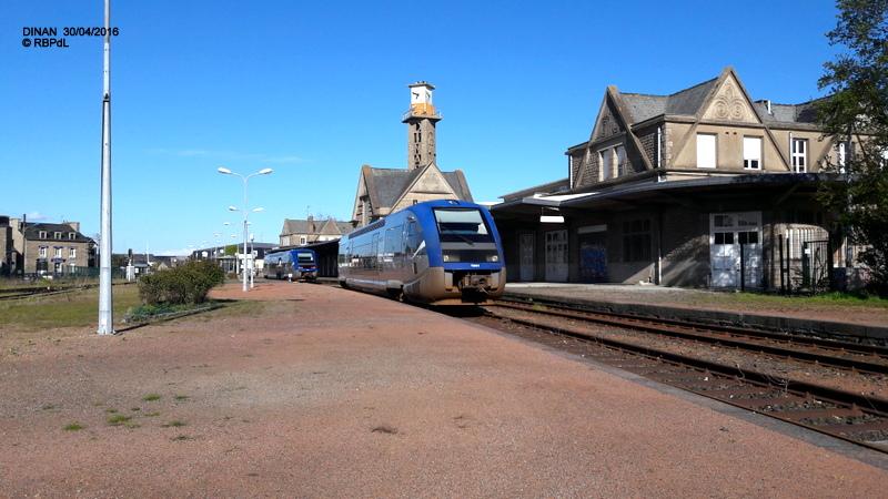 """""""tro breiz ferroviaire """" Rennes/St Brieuc/Lamballe/Dol/Rennes (4- Dinan) 20160346"""