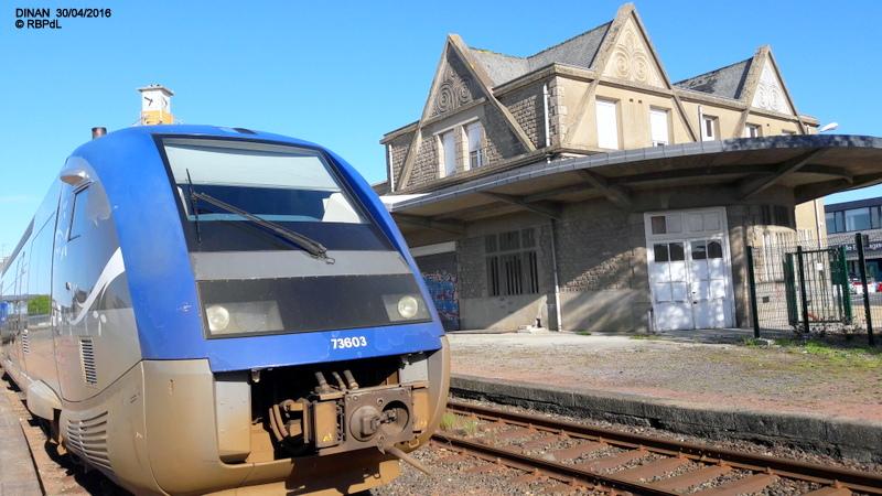 """""""tro breiz ferroviaire """" Rennes/St Brieuc/Lamballe/Dol/Rennes (4- Dinan) 20160347"""
