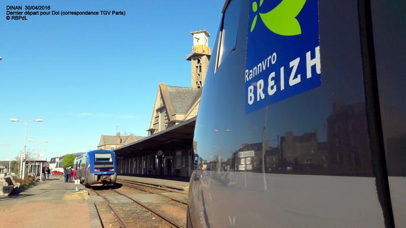 """""""tro breiz ferroviaire """" Rennes/St Brieuc/Lamballe/Dol/Rennes (4- Dinan) 20160348"""
