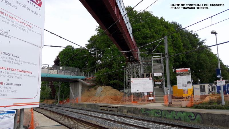 Halte de Pontchaillou, suite phase travaux - mai 2016 20160372