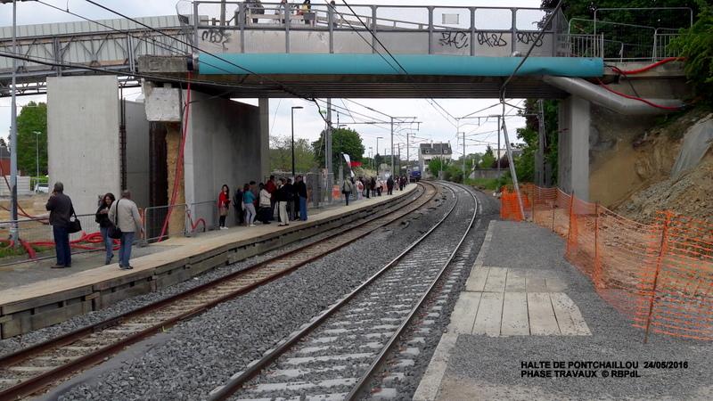 Halte de Pontchaillou, suite phase travaux - mai 2016 20160376