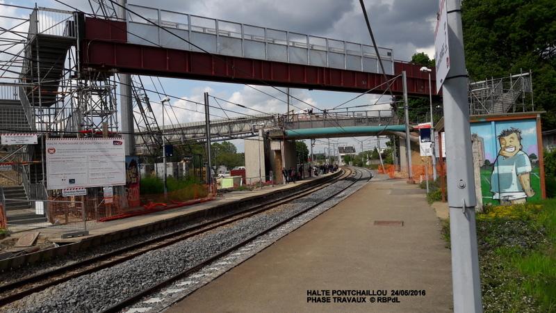 Halte de Pontchaillou, suite phase travaux - mai 2016 20160582
