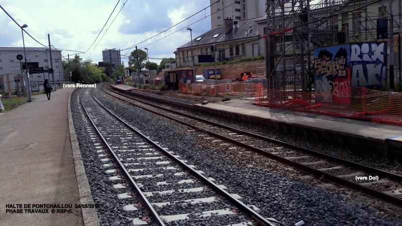 Halte de Pontchaillou, suite phase travaux - mai 2016 20160586