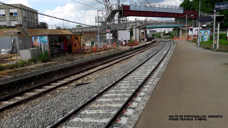 Halte de Pontchaillou, suite phase travaux - mai 2016 20160588