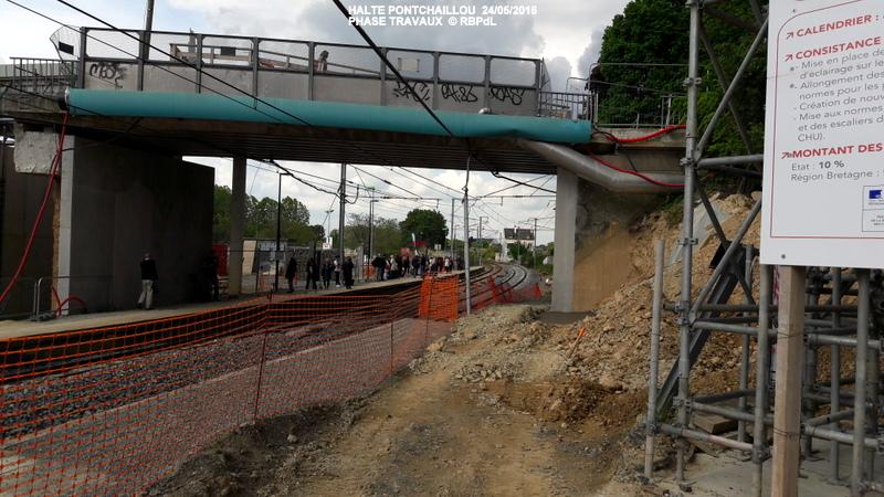 Halte de Pontchaillou, suite phase travaux - mai 2016 20160589