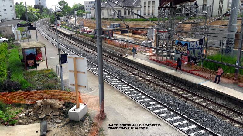 Halte de Pontchaillou, suite phase travaux - mai 2016 20160590