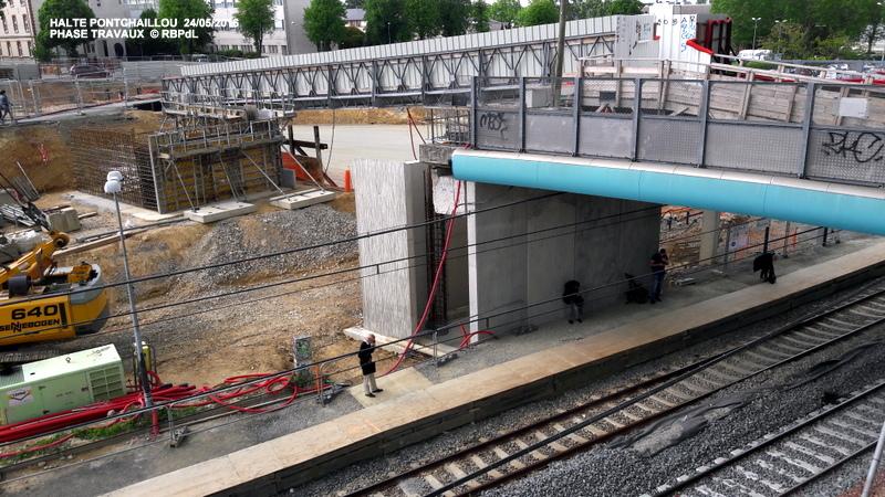 Halte de Pontchaillou, suite phase travaux - mai 2016 20160591