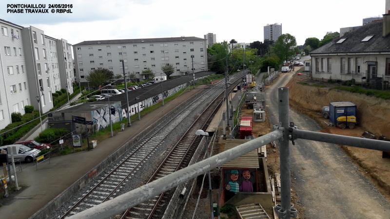 Halte de Pontchaillou, suite phase travaux - mai 2016 20160592